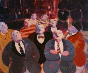 Accadimento (1989), acrilici e olio su tela, cm 25x30