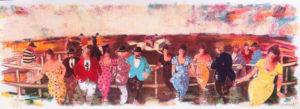 All'ippodromo, serigrafia su carta cm 35x100