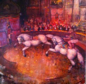 Circo Equestre 1 - Acrilici su Tela cm 50x50