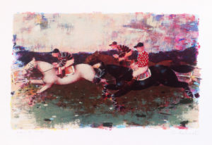Corsa ippica 2, serigrafia su carta co 35x50