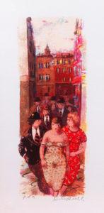 Corteggiamento, serigrafia su carta cm 40x20