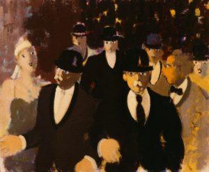 I vigilantes (1983), acrilici e olio su tela, cm 25x35