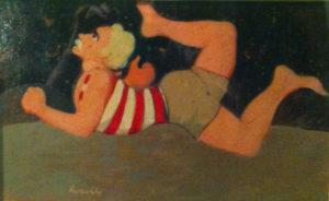 Acrobata (1978) Olio su Cartoncino Cm 24x38