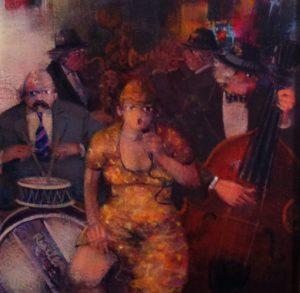 Jazz Band 1 - Acrilici su Tela cm 30x30