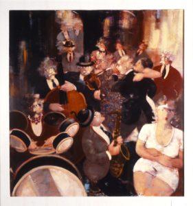 Jazz Band 2 - Acrilici e Olio su Tela cm 90x90