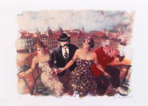 Risalita, serigrafia su carta cm 35x50