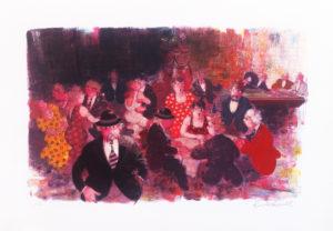 Ritrovo notturno, serigrafia su carta cm 35x50 (2)