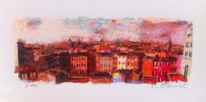 Struttura urbana 1, serigrafia su carta cm 20x40