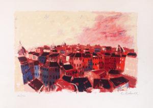 Struttura urbana (1979), serigrafia su carta cm 50x70