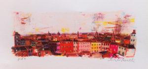Struttura urbana 2, serigrafia su carta cm 20x40
