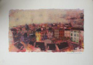 Struttura urbana 3, serigrafia su carta cm 35x50